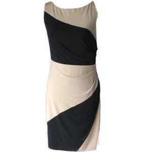 Asymmetrical Striped Ruched Stretchy Dress